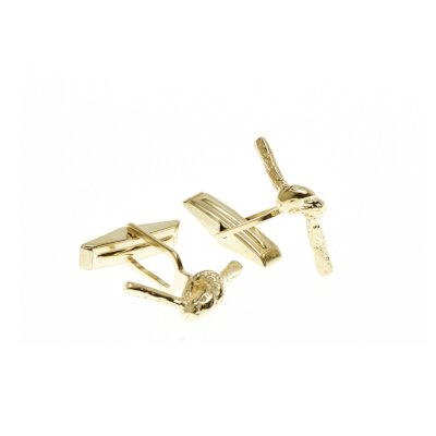 Carrie K. Forget me knot cufflinks - yellow gold