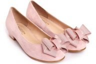 Pazzion Pink Ribbon Suede Shoes