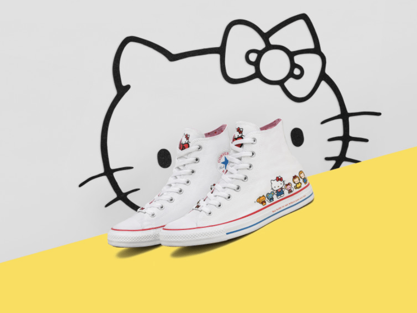 473785c1239 Chuck Taylor All Star Hi. Sanrio has transformed this classic basketball  sneaker in a fresh way. Hello Kitty and friends are embellished on the side  of the ...
